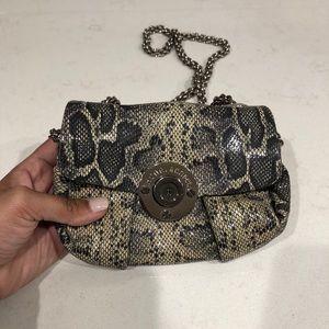 Henri Bendel snake print bag